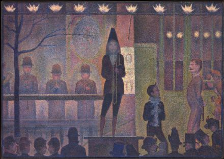 Seurat, Georges Pierre: Circus Sideshow. Fine Art Print/Poster. Sizes: A4/A3/A2/A1 (004149)